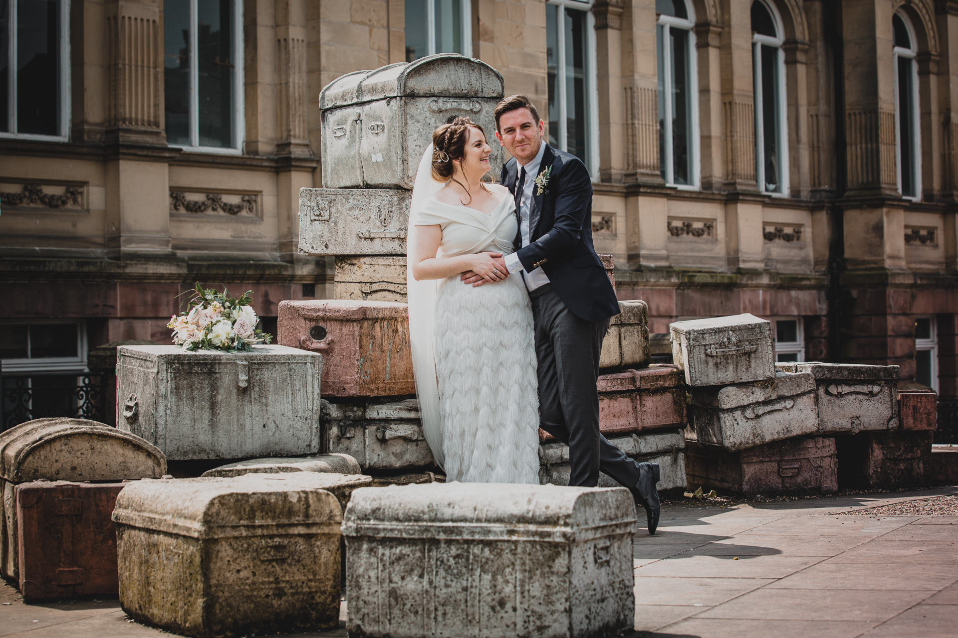 newly married couple at Liverpool wedding